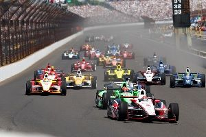 Indianapolis 500 Cars on the track